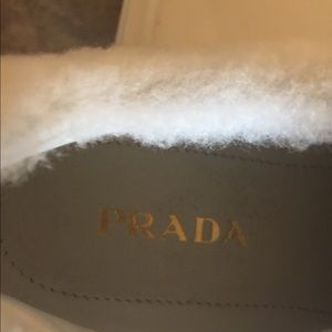 e2627f0a NWOT Prada Fur Trim Shoes Authentic